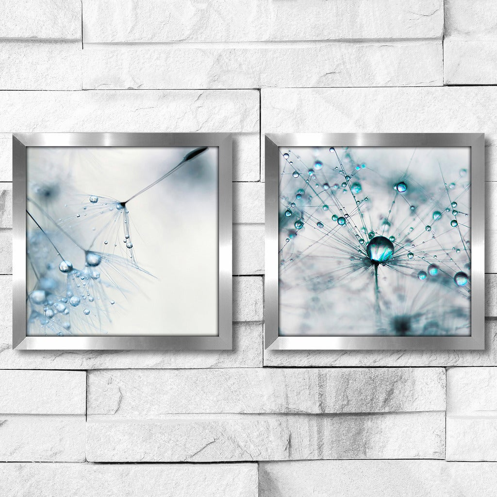 2 Twin Set Matching Baby Blue Framed