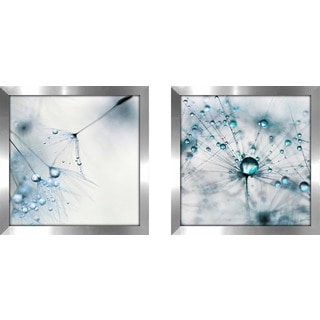 "Art Sets of 2 Twin Set Matching ""Baby Blue"" Framed Acrylic Wall Decor"