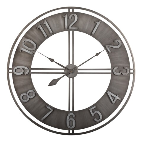 Carbon Loft Maunchly Metal 30-inch Industrial Wall Clock