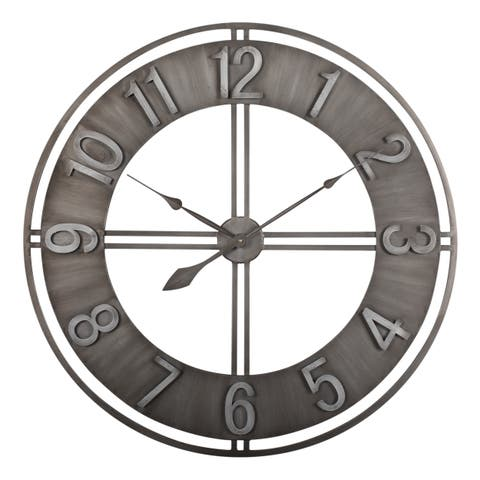 """Carbon Loft Maunchly Metal 30-inch Industrial Wall Clock - 30"""" X 30"""" X 2"""""""