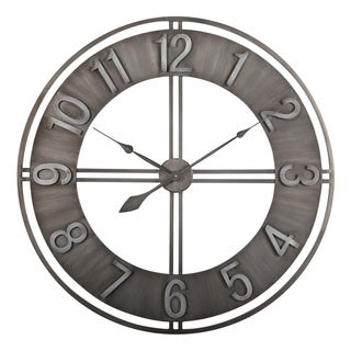 "Carbon Loft Maunchly Metal 30-inch Industrial Wall Clock - 30"" X 30"" X 2"""