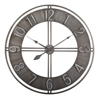 Studio Designs Home Metal 30 Inch Loft Wall Clock
