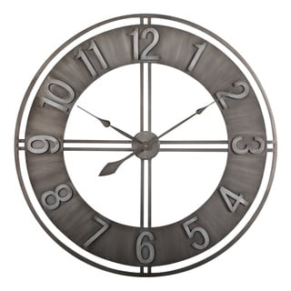 Studio Designs Home Metal 30 Inch Industrial Loft Wall Clock