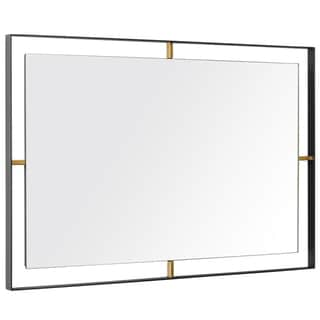 Framed 20 x 30 Rectangular Matte Black Wall Mirror