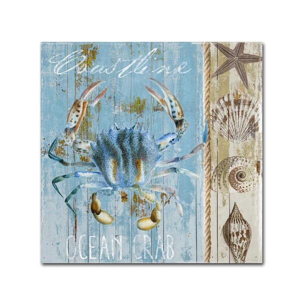 Color Bakery 'Blue Crab II' Canvas Art