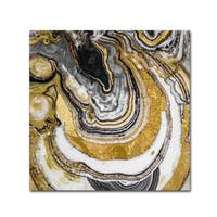 Color Bakery 'Stone Prose' Canvas Art - Gold