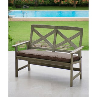 Cambridge Casual West Lake 4-foot Bench with Cappuccino Seat Pad