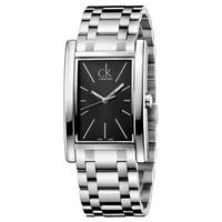 Calvin Klein Men's Refine  Silver Strap with Black Dial Stainless Steel Watch