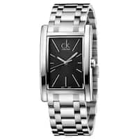 Calvin Klein Men's Refine K4P21141 Silver Strap with Black Dial Stainless Steel Watch