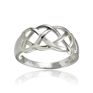 Link to Mondevio Sterling Silver High Polished Weave Band Ring Similar Items in Rings