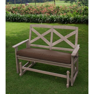 Cambridge Casual West Lake Glider Bench with Cappuccino Seat Pad