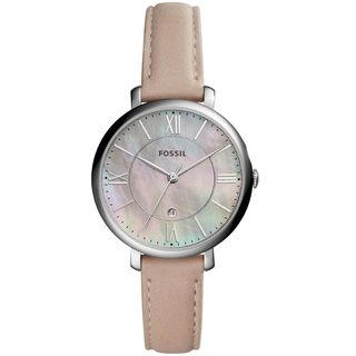 Fossil Women's ES4151 Jacqueline Pink Mother Of Pearl Dial Blush Leather Watch