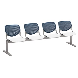 KOOL 4 Seat Beam Seating, Navy Back, White Seat
