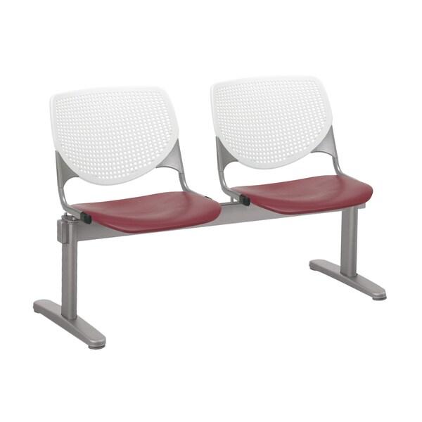 kool furniture. KOOL 2 Seat Waiting Room Chair, White Back, Burgundy - Seats Kool Furniture