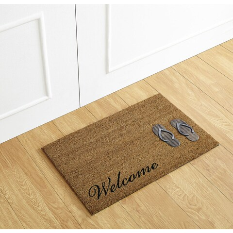 Flip Flop Welcome Coir Mat