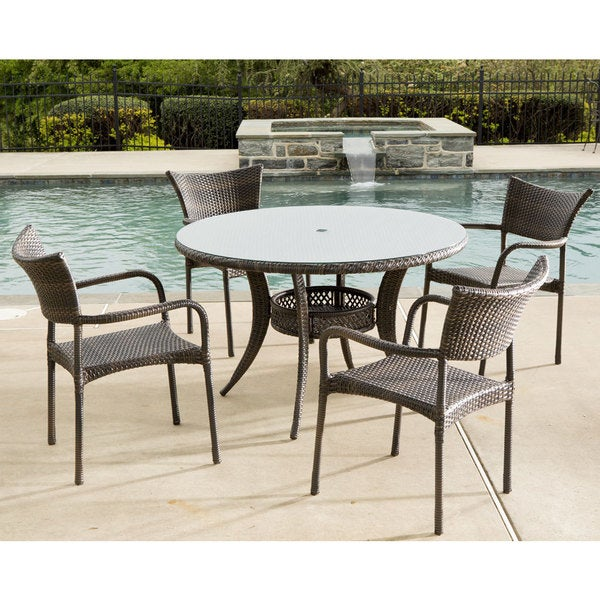Shop Tutto All Weather Wicker Set With Round Dining Table