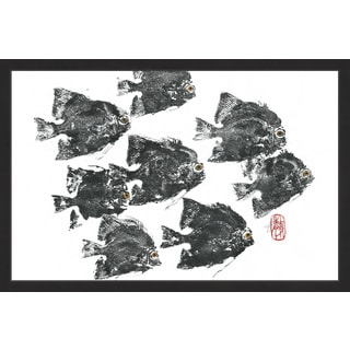 'Racing Fish' Framed Painting Print