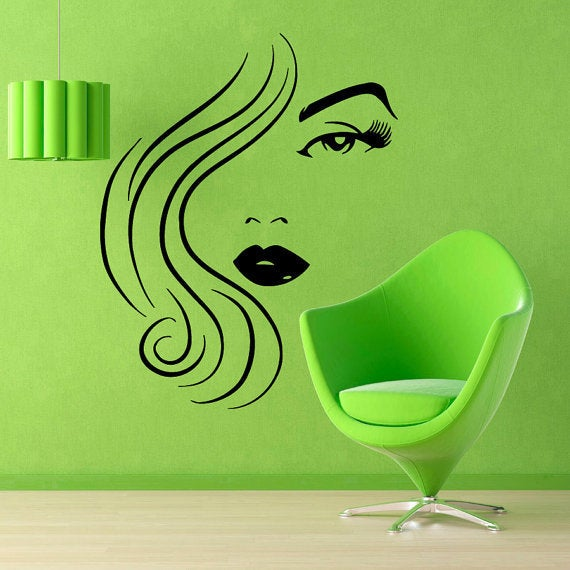 Model Beauty Salon Wall Decor Home Vinyl Art Make Up Decals Cosmetics