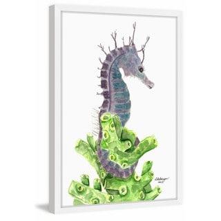 'Purple Sea Horse' Framed Painting Print