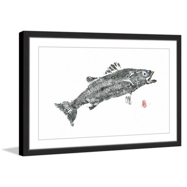 'Sea Bass Solitaire' Framed Painting Print
