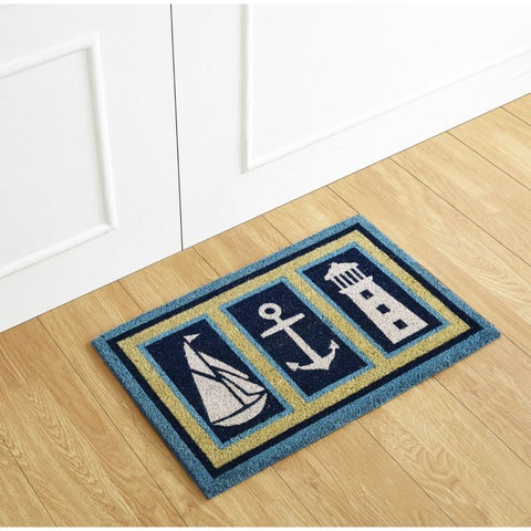 Nautical Coir Mat