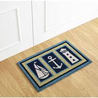 Nautical Coir Mat