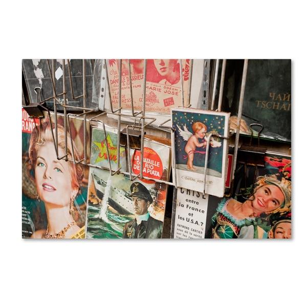 Yale Gurney 'Magazine Rack' Canvas Art