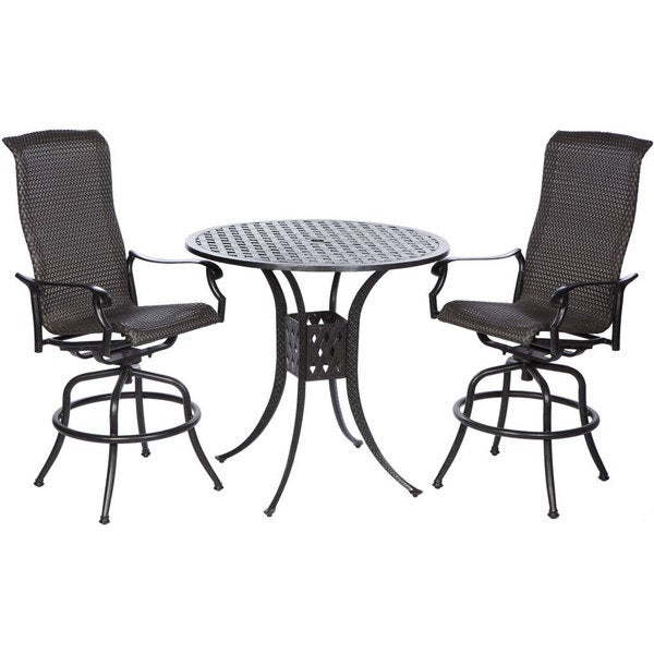 Topeakmart Round Pub Table Bar Height Chairs Height: Shop Barbados Bar Height Set With Round Aluminum Table And
