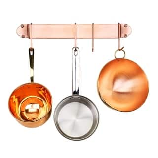Copper 18-inch Bar Rack with 4 Hooks