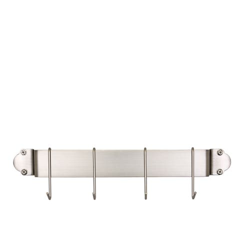 Old Dutch Satin Nickel 18-inch Bar Rack with 4 Hooks