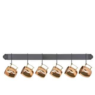 Graphite 34-inch 6-hook Bar Rack