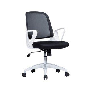 Viva Office Mid-back Mesh Fashionable Adjustable White Armrests Office Task Chair
