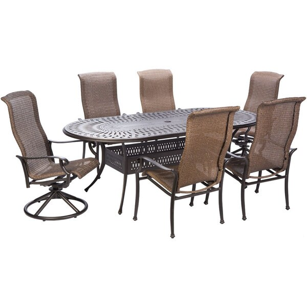 Outdoor Furniture In Naples Fl: Shop Naples 7-piece Dining Table Swivel Rockers And Dining