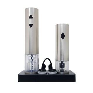 Vinotemp Epicureanist Electric Corkscrew and Wine Preserver Set