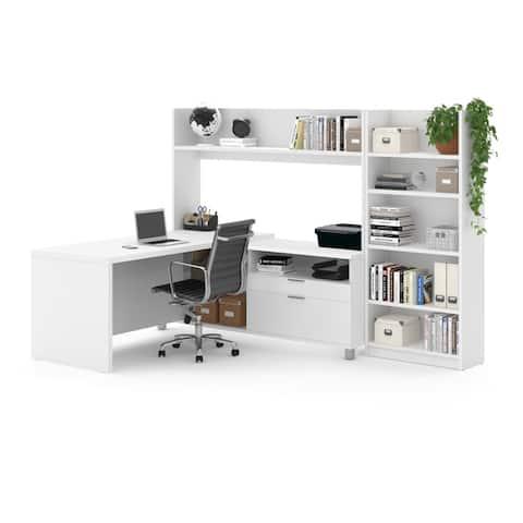 Pro-Linea L-Desk with Bookcase
