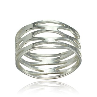 Link to Mondevio Sterling Silver High Polished Multi Wrap Band Ring Similar Items in Rings