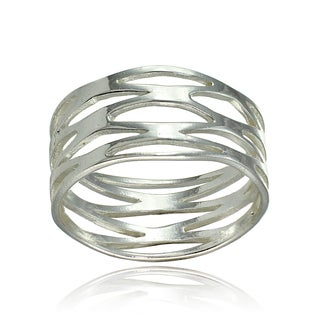 Mondevio Sterling Silver High Polished Multi Wrap Band Ring