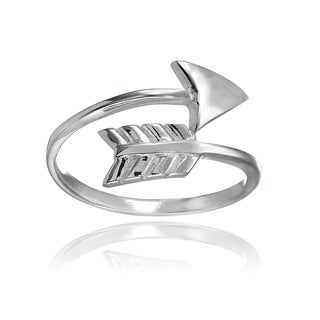 Mondevio Sterling Silver High Polished Arrow Wrap Ring