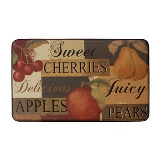 Chef Gear Scrumptious Fruit Faux Leather Anti-Fatigue Cushioned Chef Mat -