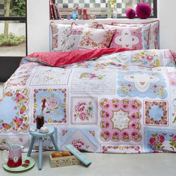 Famous Home Hankies Floral Patchwork Cotton Duvet Cover