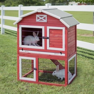 Precision Old Red Barn Rabbit Hutch