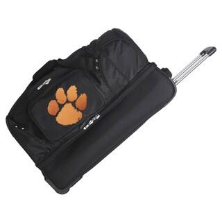 Denco Sports Clemson Tigers 27-inch Rolling Drop Bottom Duffel Bag