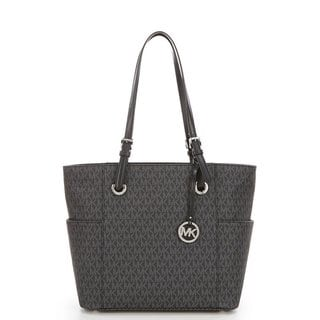 Michael Kors Jet Set Travel Black PVC Small Logo Tote Bag