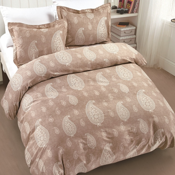 Dunes Taupe 3 Piece Cotton Quilt Set