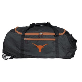 Denco Sports L801 Series Texas Longhorns Black 36-inch Collapsible Rolling Duffel Bag