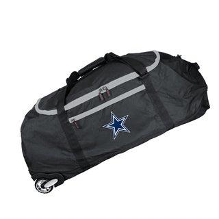 Denco Sports Dallas Cowboys Black 36-inch Collapsible Rolling Duffel Bag