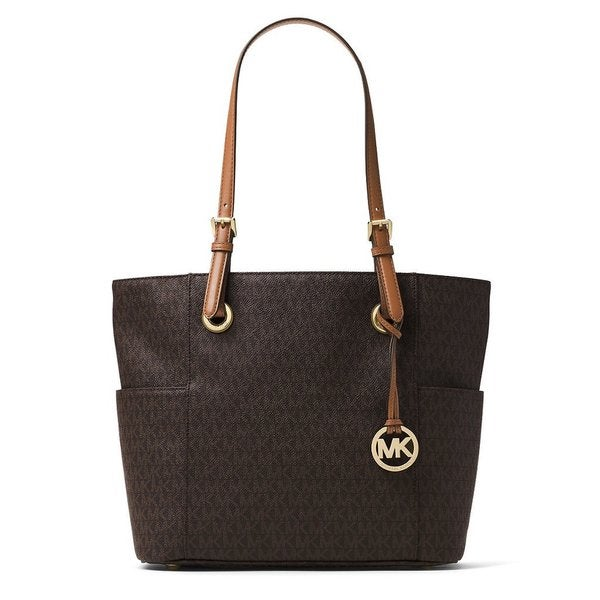 0a523f114204 Shop Michael Kors Jet Set Signature Brown Tote Bag - Free Shipping ...