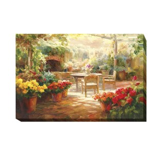 Roberto Lombardi 'Shaded Patio' Gallery-wrapped Canvas Giclee Art