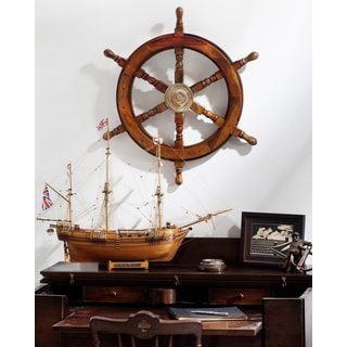 Wood Brass 18 Inch Ship Wheel Free Shipping On Orders