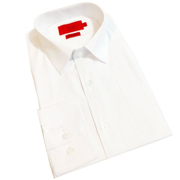 Black Collection By Elie Balleh Milano Italy Boys' 2015-style White Modern-fit Shirt